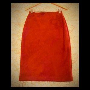 NWOT BCBG Suede-like skirt. Stunning